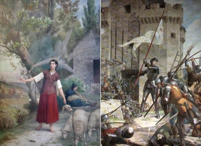 Ж. Э. Леневе. Слева – *Видение Жанны д'Арк*, 1889. Справа – *Жанна д'Арк при осаде Орлеана*, 1886-1890