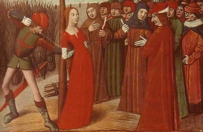 Неизвестный художник. Казнь Жанны д'Арк