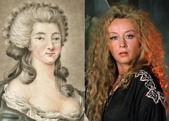 Графиня де ла Мотт и Маргарита Терехова в роли Миледи