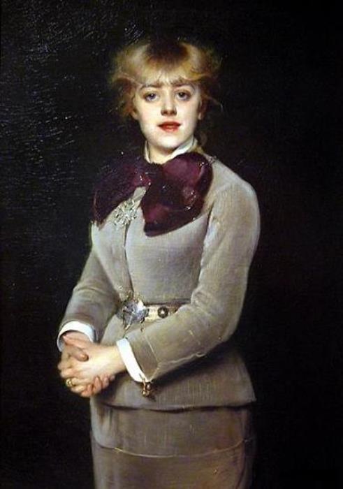 Луиза Аббема. Портрет Жанны Самари, 1879