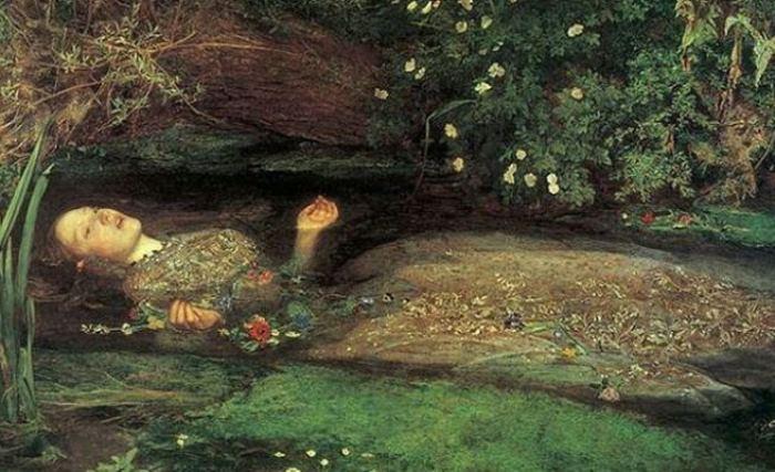Джон Эверетт Милле. Офелия, 1852. Фрагмент