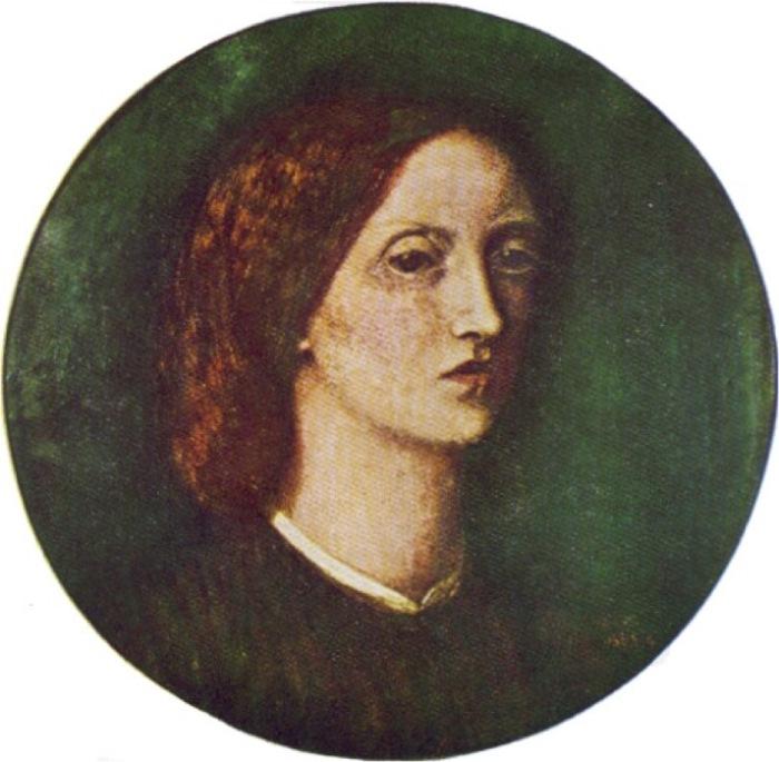 Элизабет Элеонор Сиддал. Автопортрет, 1854