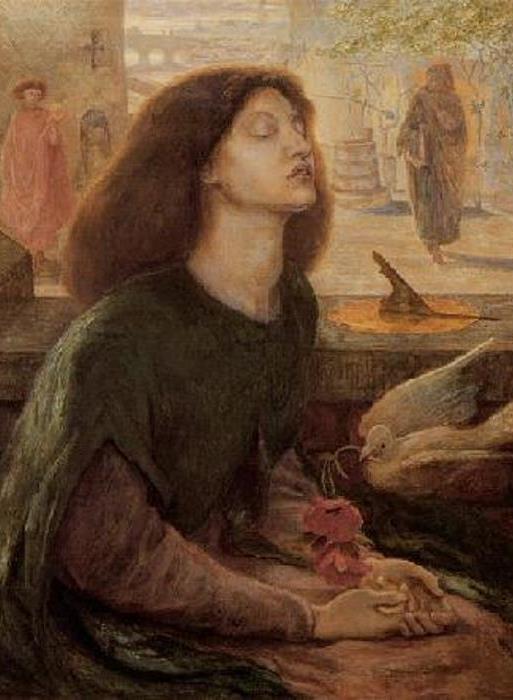 Данте Габриэль Россетти. Благочестивая Беатриче (второй вариант картины), 1882