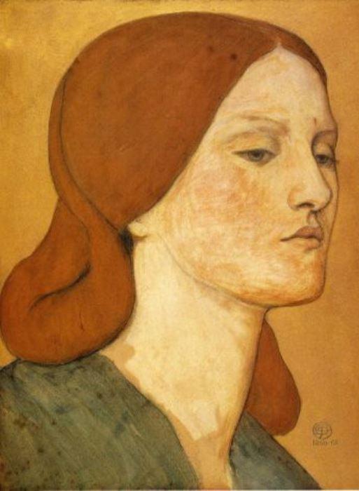 Данте Габриэль Россетти. Портрет Элизабет Сиддал, 1865