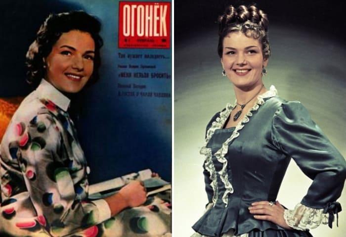 Актриса в 1961 и в 1955 гг. | Фото: kino-teatr.ru