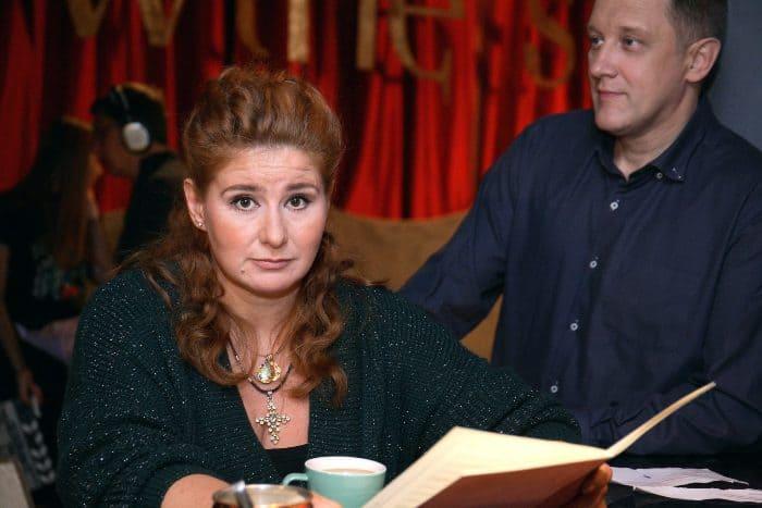 Актриса на съемках сериала *Осколки. 2 сезон*, 2020   Фото: kino-teatr.ru