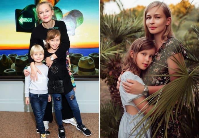 Актриса с дочерьми   Фото: starhit.ru, ru.hellomagazine.com