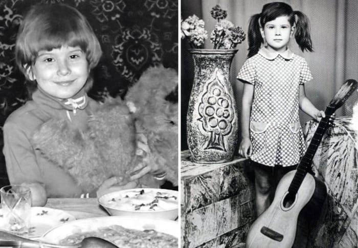 Юлия Высоцкая в детстве | Фото: starhit.ru