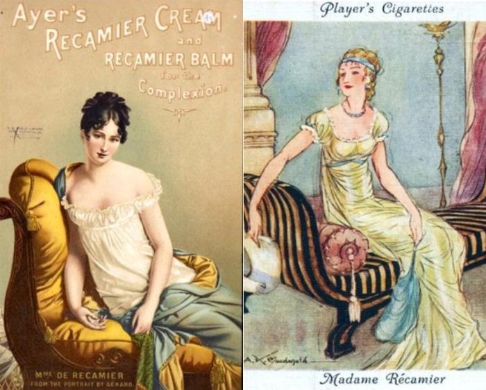 Начало ХХ в. Образ мадам Рекамье в рекламе косметического крема и сигарет