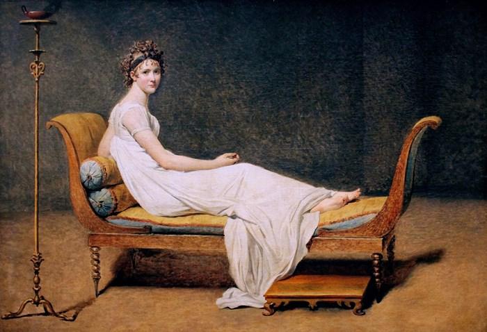 Жак Луи Давид. Портрет мадам Рекамье, 1800