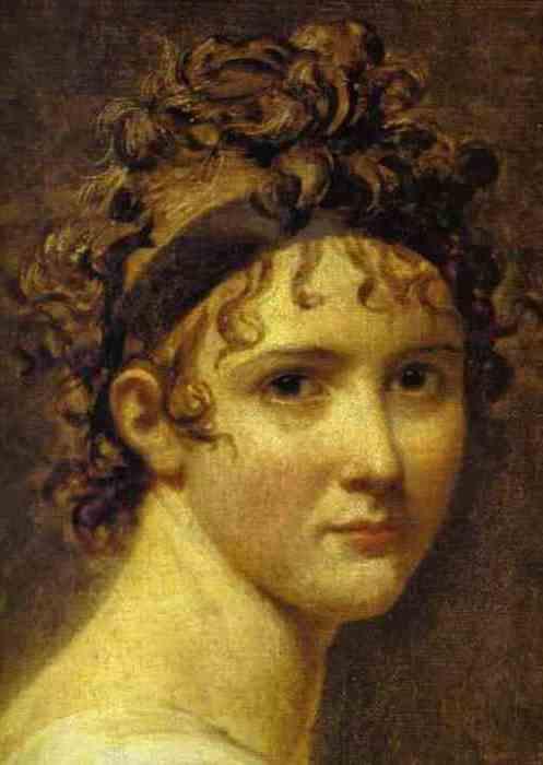 Жак Луи Давид. Портрет мадам Рекамье, 1800. Фрагмент