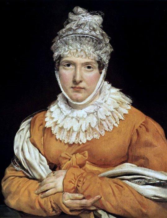 Антуан Жан Гро. Портрет мадам Рекамье. Около 1825 года