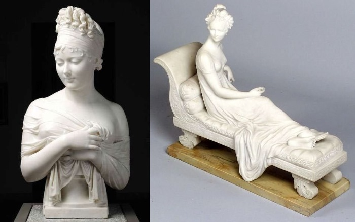 Скульптурные изображения мадам Рекамье