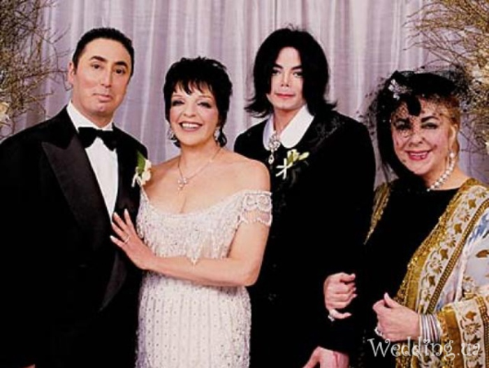 Майкл Джексон на свадьбе Лайзы Миннелли с Дэвидом Гестом