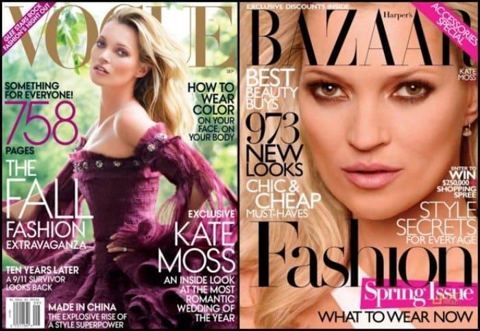 Кейт Мосс на обложках модных журналов | Фото: mylitta.ru