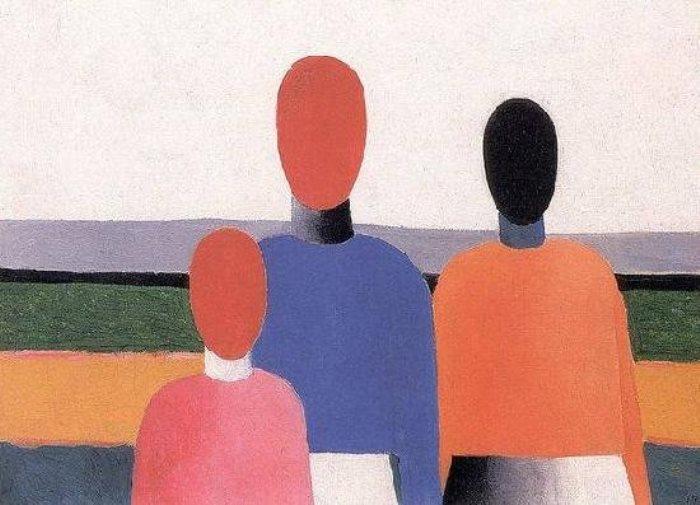 Казимир Малевич. Три женские фигуры