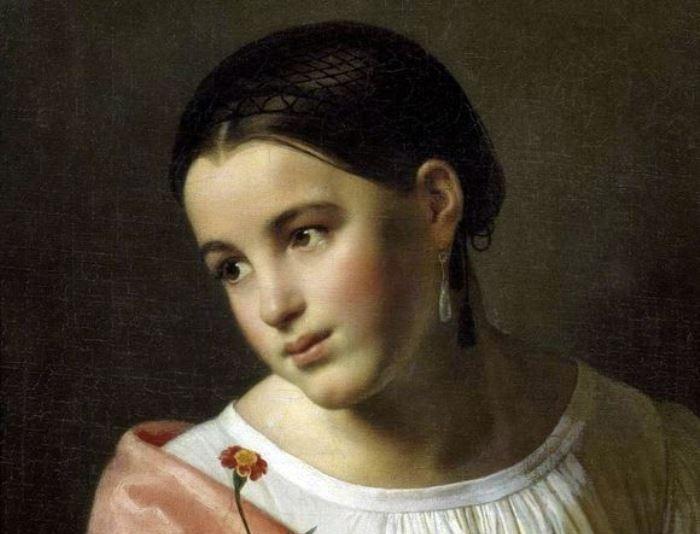 О. Кипренский. Бедная Лиза, 1827. Фрагмент | Фото: gallerix.ru