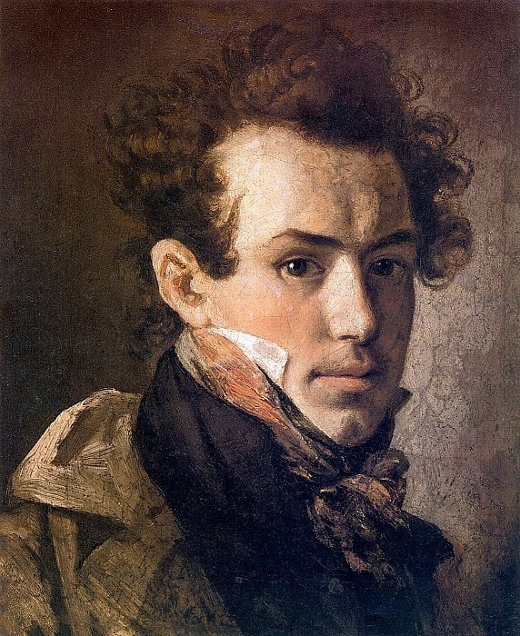 О. Кипренский. Автопортрет (с розовым шейным платком), 1809 | Фото: gallerix.ru
