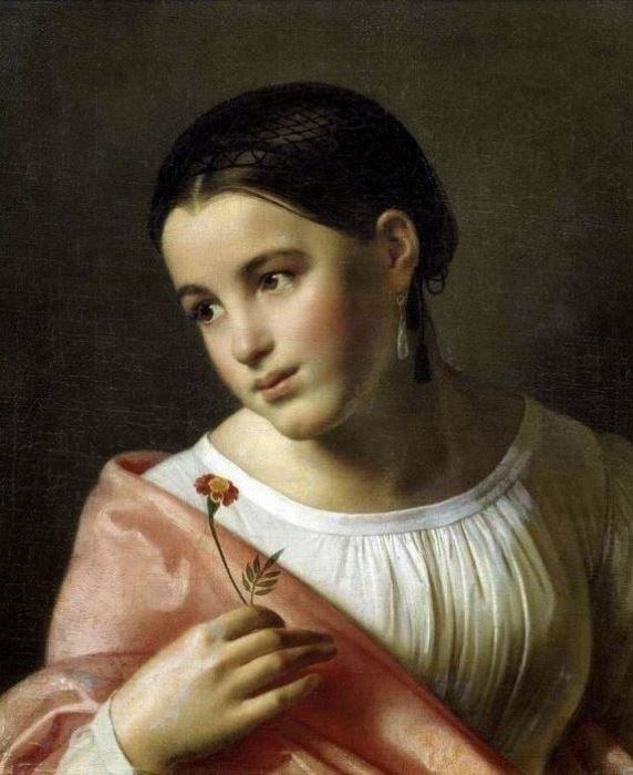 О. Кипренский. Бедная Лиза, 1827 | Фото: gallerix.ru