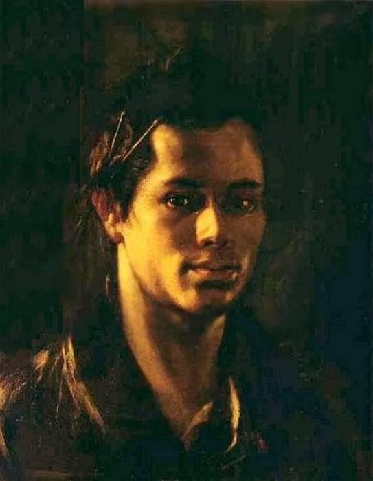 Орест Кипренский. Автопортрет с кистями за ухом, 1809
