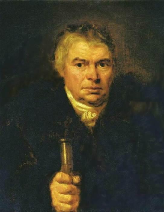 Орест Кипренский. Портрет  А. К. Швальбе (Портрет отца), 1804