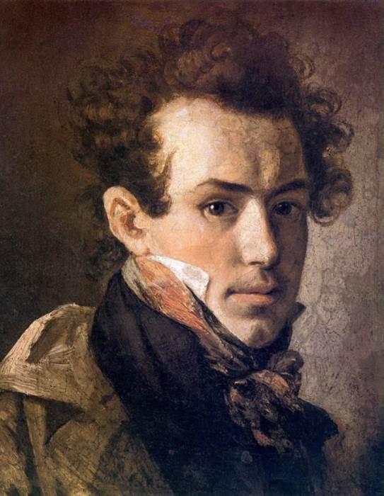 Орест Кипренский. Автопортрет в розовом шейном платке, 1809