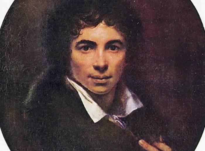 Орест Кипренский. Автопортрет, 1820. Уффици. Фрагмент