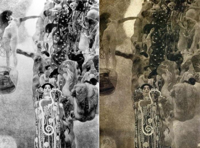 Г. Климт. Медицина. Фотографии | Фото: artcontext.info и artchive.ru