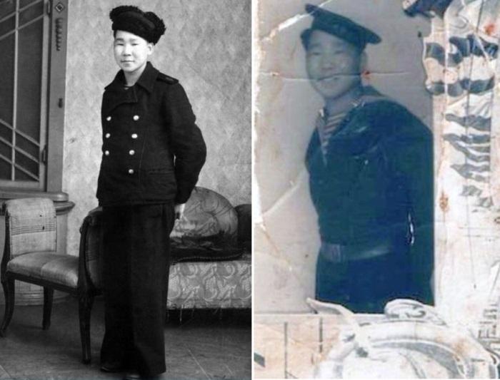 Кола Бельды в 1945 г. и после демобилизации   Фото: shanson-e.tk