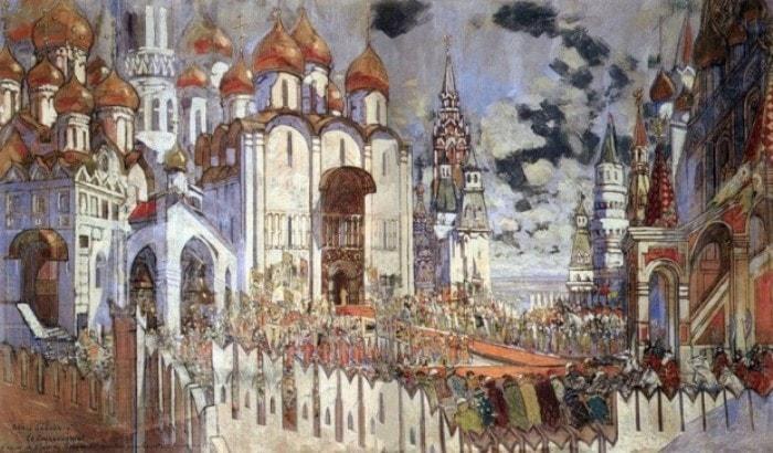 К. Коровин. Декорации к спектаклю *Конек-горбунок*, 1901 | Фото: liveinternet.ru