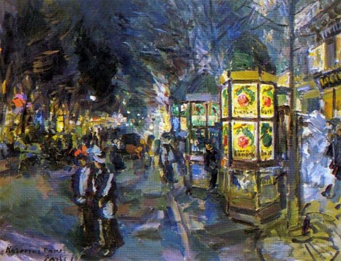 К. Коровин. Парижский бульвар ночью, 1910 | Фото: artchive.ru