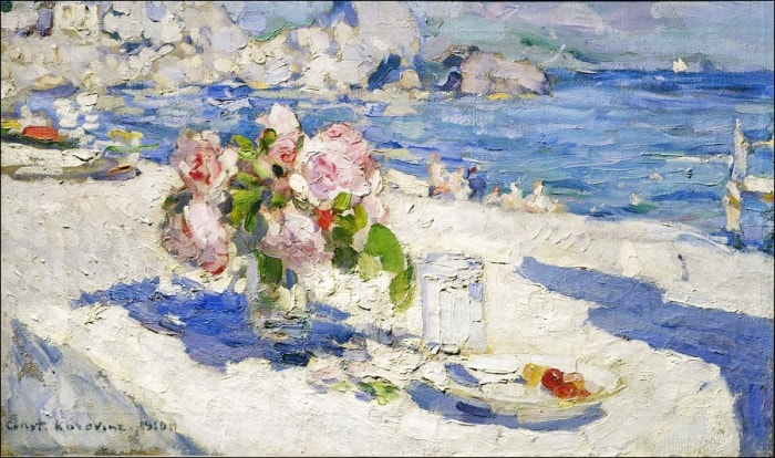 К. Коровин. На берегу моря, 1910 | Фото: liveinternet.ru