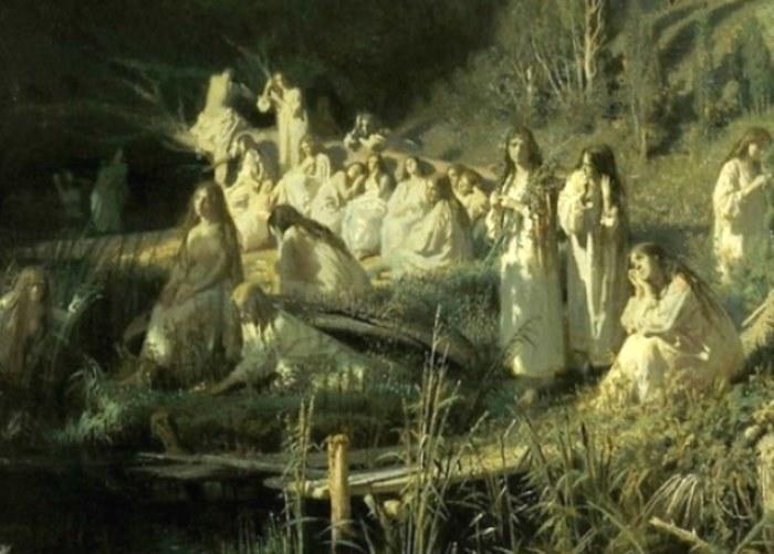 И. Крамской. Русалки, 1871. Фрагмент