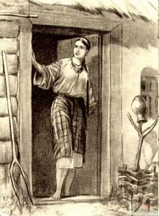 М. Деригус. Иллюстрация к повести Н. Гоголя *Майская ночь, или Утопленница*: Ганна, 1951