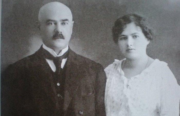 Антон Деникин и Ксения Чиж накануне венчания, 1918 | Фото: ruguard.ru