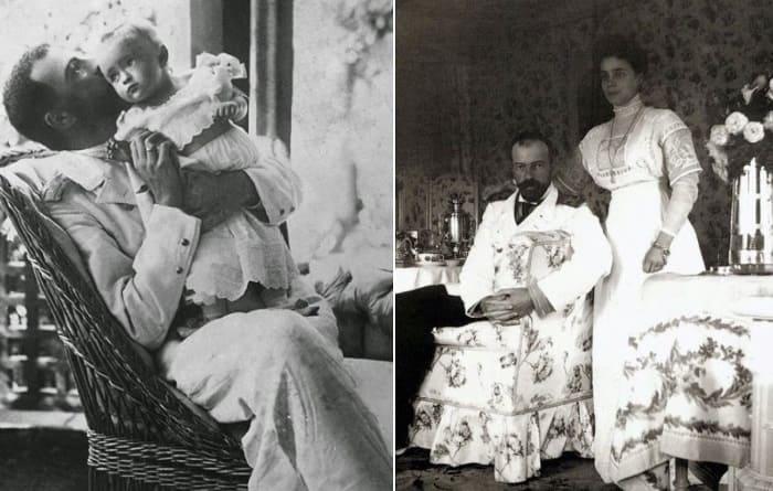 Великий князь Александр Михайлович с дочерью Ириной и с супругой | Фото: romanovs-russia.blogspot.ru