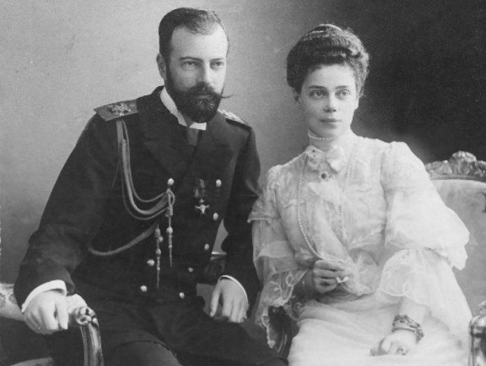 Великий князь Александр Михайлович с супругой, великой княгиней Ксенией Александровной | Фото: liveinternet.ru