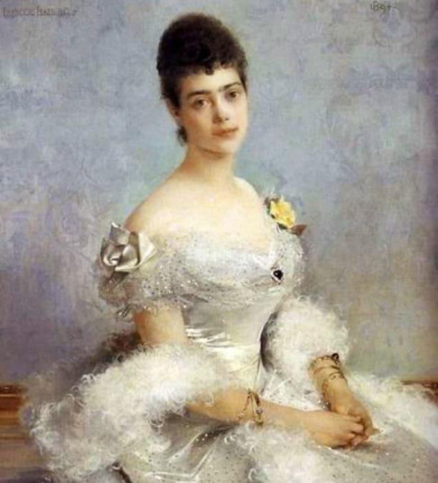 Ф Фламенк. Портрет великой княгини Ксении Александровны Романовой, 1894 | Фото: liveinternet.ru