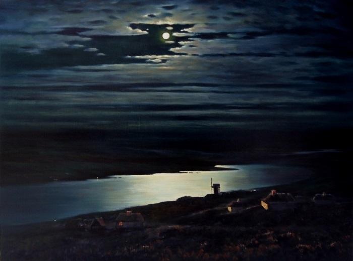 А. Куинджи. Лунная ночь на Днепре, 1880 | Фото: art-assorty.ru