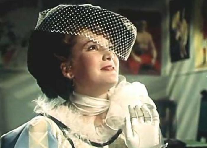 Кюнна Игнатова в фильме *Борец и клоун*, 1957   Фото: kino-teatr.ru