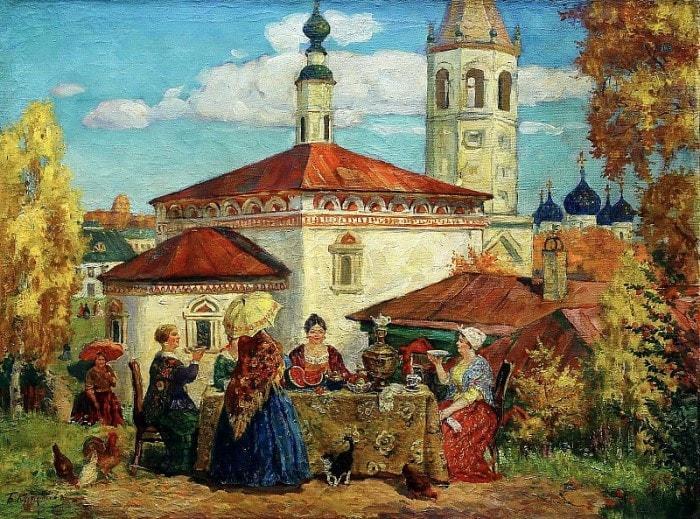 Б. Кустодиев. В старом Суздале, 1914 | Фото: gallerix.ru
