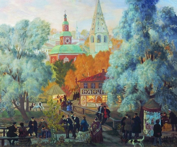 Б. Кустодиев. Провинция, 1919 | Фото: gallerix.ru
