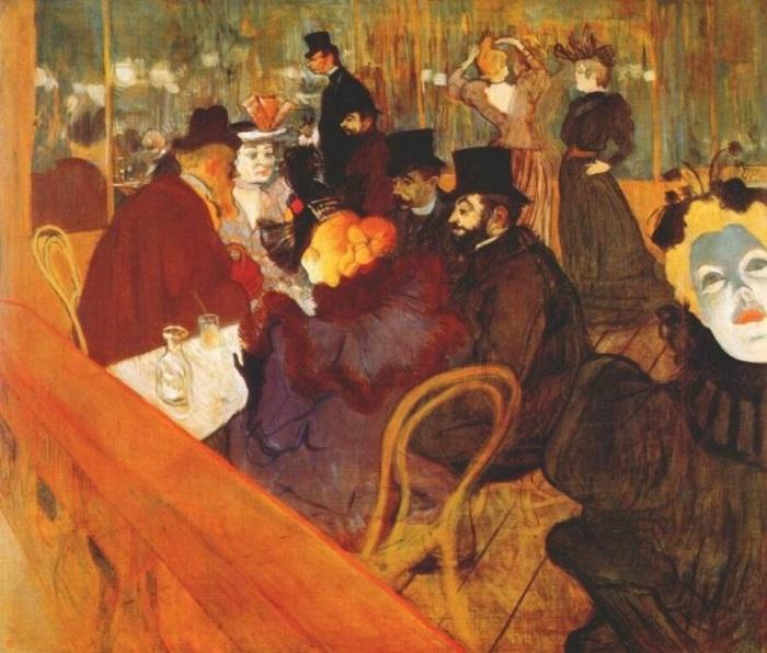 Анри де Тулуз-Лотрек. В *Мулен Руж*, 1892 г. | Фото: aria-art.ru