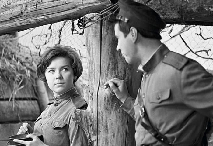 Лариса Голубкина на съемках фильма *Освобождение*, 1968 | Фото: sovsekretno.ru