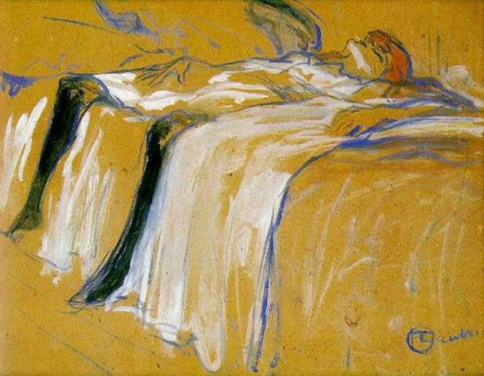 Женщина, лежащая на спине. Усталость. 1896 г.