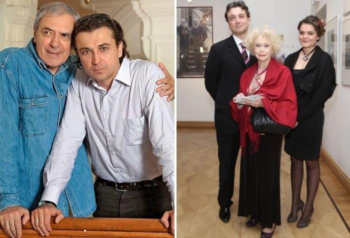 Александр Лазарев-младший с отцом, матерью и дочерью | Фото: 7days.ru, kino-teatr.ru
