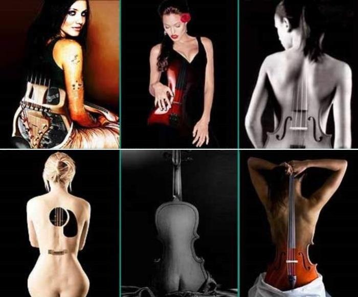 Современные вариации на тему *Скрипки Энгра* | Фото: otblesk.com