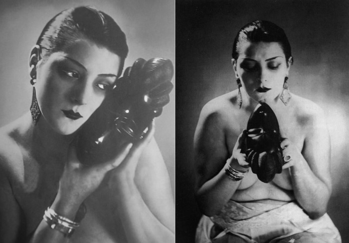 Ман Рэй. Кики с Монпарнаса, вариации *Черного и белого*, 1926 | Фото: theredlist.com