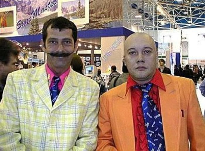 Борис Барский и Владимир Комаров – участники комик-группы *Маски* | Фото: kino-teatr.ru
