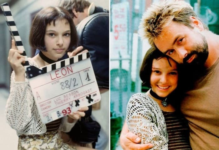Натали Портман и Люк Бессон на съемках фильма *Леон* | Фото: dubikvit.livejournal.com